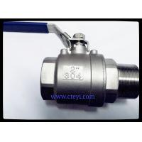 China Female / Male End Stainless Steel Ball Valves 1/4 - 4 Investment Casting Body wholesale