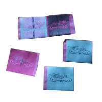 China Durable Woven Neck Labels for lady clothing personized size color shrink proof wholesale