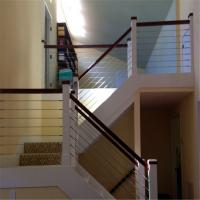 China Stainless steel wire railing prefab metal stair railing cable railing hardware wholesale