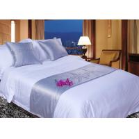 China White Super King Size Bed Linen , 100% Egyptian Cotton Bed Linen wholesale
