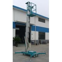 China Sole Mast Aluminum Aerial Work Platform 125Kg Load and 8 Meters wholesale