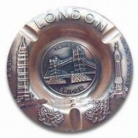 China Promotional London Ashtray, Made of Alloy, Available in Various Sizes and Colors wholesale