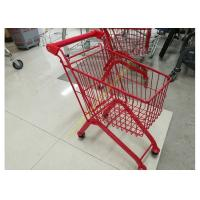 China Kids Model Supermarket Shopping Cart / Red Color Shopping Trolley For Kids wholesale