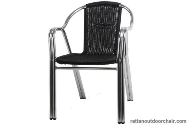 Quality LJC010 Aluminum frame Outdoor Rattan Furniture round rattan chair for sale
