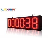 China Indoor and Outdoor Ultra Thin Wall Led Digital Clock for Bus Station Train Station wholesale
