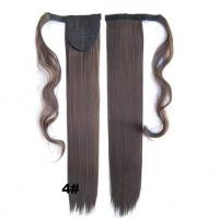 China Soft Bond Long Synthetic Heat Resistant Hair Extensions Silky Straight 20 Inch wholesale