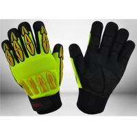 China Sandy Nitrile Coated Mechanic Work Gloves Good Grip Capacity For Construction wholesale