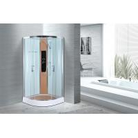 Comfort Waterproof Curved Corner Shower Enclosure Kits Free Standing Type