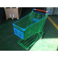 China 150L Asian Supermaket Wire Shopping Trolley With Swivel Casters wholesale