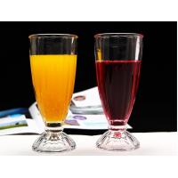 China Transparent Apple Juice Ice Cream Glass Cup Long Drinking For One Dollar Shop wholesale