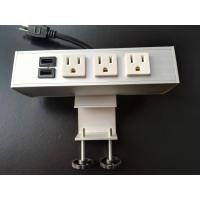 China Desk Mounted Power Sockets Electrical Outlet , Metal Tabletop Power Bar Receptacle on sale