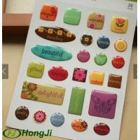Buy cheap Keychains / Earphones Epoxy Resin Stickers Printed 3D 1.5mm - 2mm Thickness from wholesalers