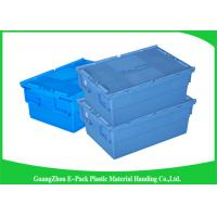 China Economic Plastic Food Storage Plastic Boxes , Supermarkets Attached Lid Distribution Containers on sale