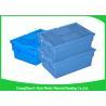 China Las cajas plásticas del almacenamiento plástico económico de la comida, supermercados ataron los envases de la distribución de la tapa wholesale