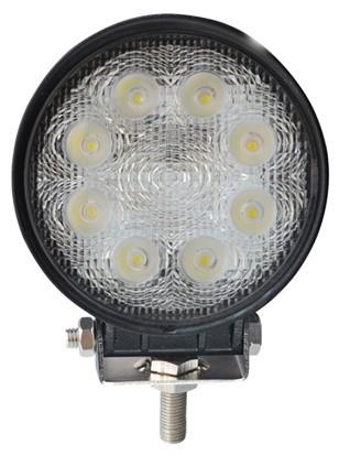 Quality 5 Inch 24 W Round Car LED Fog Lights Flood/Spot Black / White Diecast Aluminum Housing for sale
