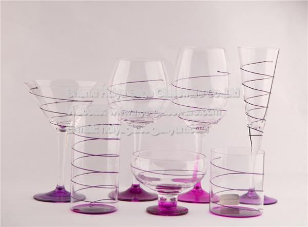 Purple spray paint images for Spray painting wine glasses