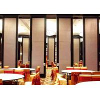 China Soundproof Retractable Room Divider , Office Partition Wall Aluminum Or Steel Track wholesale