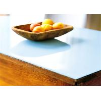 China China high quality safety tempered milk white glass table top wholesale price wholesale