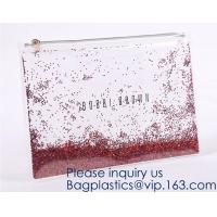 China Custom Logo Glitter Cosmetic Makeup Eva Clear Pouch / Pouches,Smiggle Pencil Case With Glitter,Tissue Bag CD Case Docume wholesale