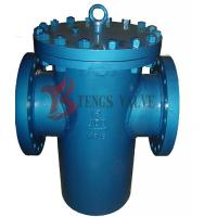 China Welded Simplex Basket Strainer Flanged Fabricated PI Class 300LB Bolted Cover wholesale