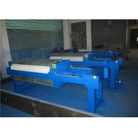 China Cast Iron Chamber Automatic Filter Press Machine / Plate And Frame Type Filter Press on sale