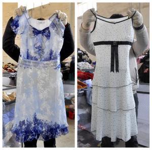 China comfortable cotton ladies used dress wholesale