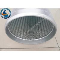 Low Carbon Galvanized Water Well Screen Excellent Pressure Resistant