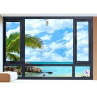 China Vertical Opening Pattern Aluminum Casement Windows With Security System wholesale