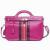 Genuine Cow Leather Handbag For Girl Red Handmade Messenger Bags