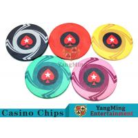 China Ceramic Casino Poker Chips , Poker Chips And Cards With Dynamic Textures Design wholesale