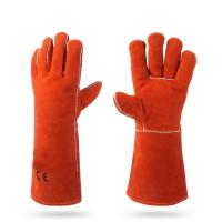 China 14 WELDING SAFETY GLOVES WITH LEATHER  AB/BC GRADE on sale