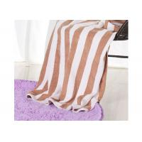 China Hotel 100% Cotton Beach Towels , Rectangle Cotton Terry Towel Water Soluble wholesale