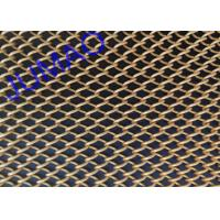 Brass Folded Metal Mesh Curtains Dramatic Spaces With 1.2 Mm Diameter Wire