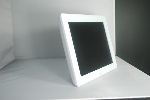 Quality White Glass Personalised Wedding Electronic Photo Frames 12 Inch With Two Speaker for sale