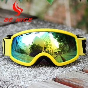 China Anti Dust Anti Glare Kids Ski Goggles With Revo Flash Lens And Polycarbonate Lens wholesale