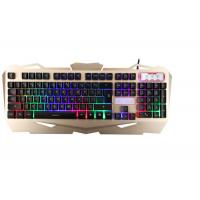 China Korea Layout USB Gaming Keyboard Multimedia With Suspension Keycaps Aluminum Cover wholesale