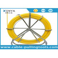 China 4.5mm 200m Yellow Color Fiberglass Duct Rodder for Cable Laying Project wholesale