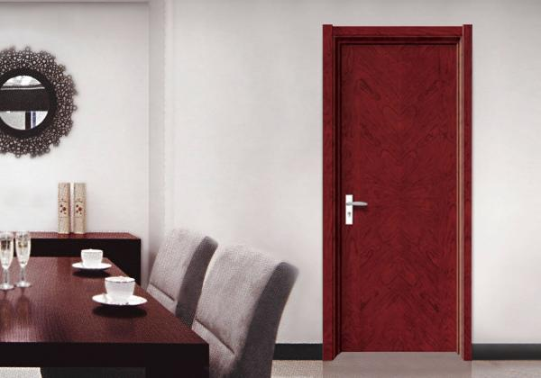 Quality SS304 Hinge Decorative Flush Door , Casing Architrave Complete Set Flush Interior Door for sale