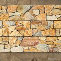 China Yellow Gold Quartzite Random Loose Stacked Stone Mold and Mildew Resistant wholesale
