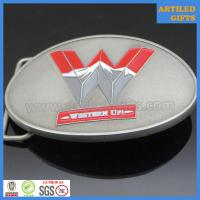 China Antique silver base soft enamel western up casting alloy belt buckle wholesale
