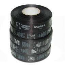 China Polyester Custom Care Labels Symbols Black Single Side Roll Satin Printed wholesale