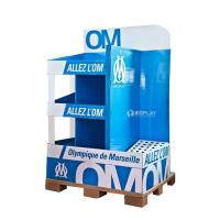 Creative Pop Advertisement Display Stands , Exhibition Cardboard Display Shelves