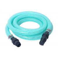China Flexible PVC Spiral Suction Hose Assembly / Vacuum Pump Pipe With Fittings on sale