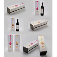 China White Wine Box with Paper Bag, Colorful Wine Boxes with Styrofoam Tray wholesale