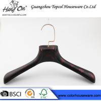 China Rose Gold Metal Hook Modern Clothes Hangers With Smooth Surface wholesale