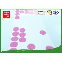 China 25mm dia adhesive based Custom Hook and Loop Patches rounded dots for small toy wholesale