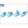 China Brightness Button LED Light 8GB Pen Drives Twister Resin Dome Logo wholesale