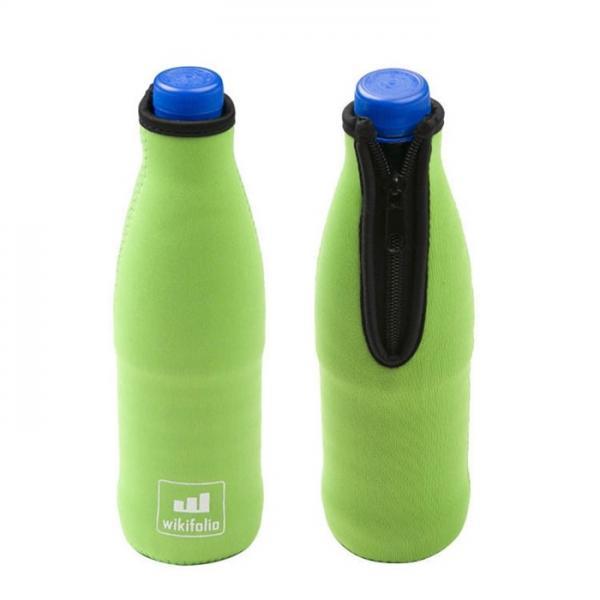 Quality Silk Printing Beer Bottle Cooler Bag , Glove Stubby Holder Bulk Neoprene Beer Can Cooler for sale