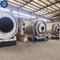 China 15Ton Waste Plastic Used Tyre Rubbers Pyrolysis To Fuel Oil Plant For Waste Recycling wholesale