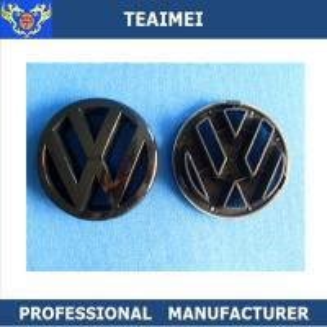 China VW Black ABS Plastic Custom Auto Emblems Car Logo Front Grill Grille Badge Emblem wholesale